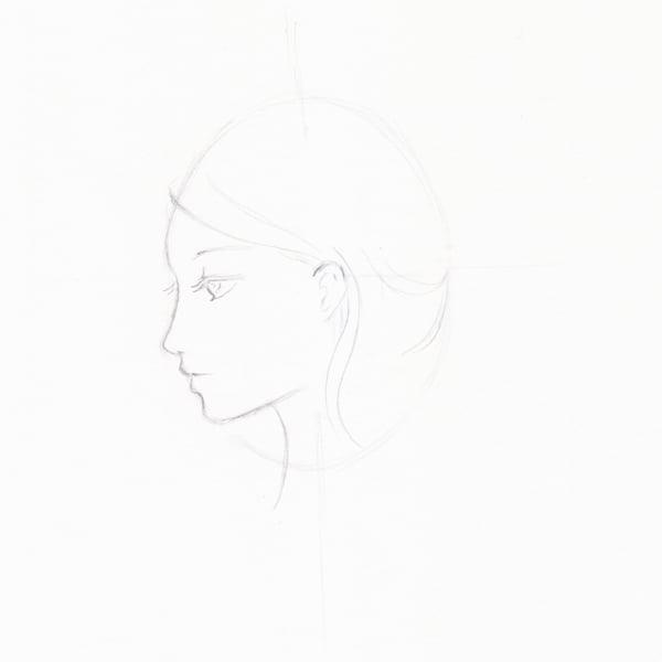 Step 7 - Start to draw hair
