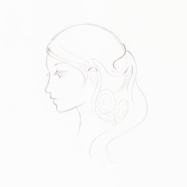 Step 10 - More hair detail