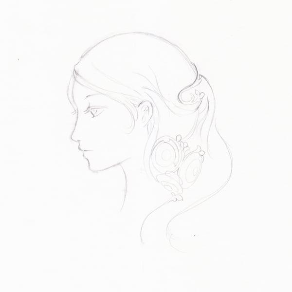 Step 12 - More hair lines