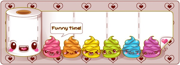 Same character, made cuter. Friends added. © 2008 M. Winkler