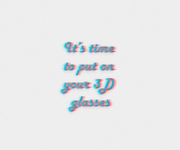 Anaglyphic Text Effect