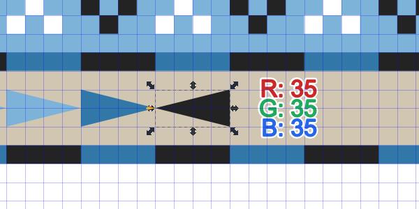 reverse gray triangle