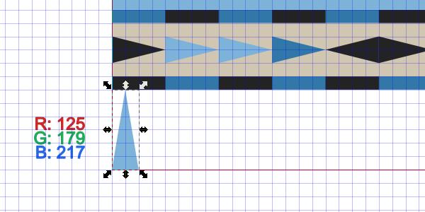 draw tall spikes