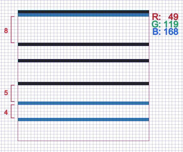 draw blue lines