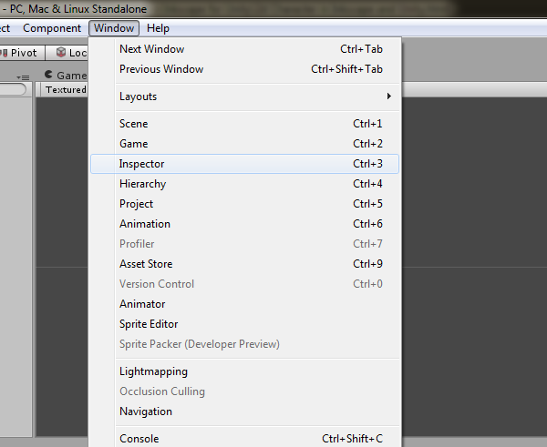 Opening up the Sprite Inspector