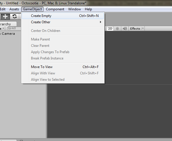 Create an empty Game Object