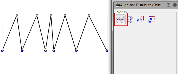 align bottom nodes