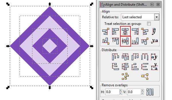 center align shapes