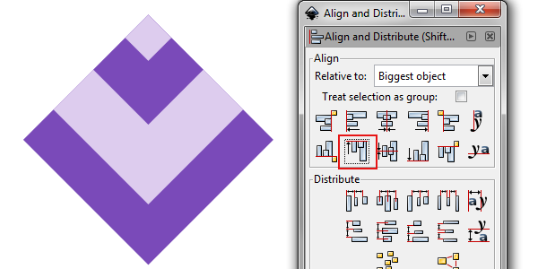 align shapes to top
