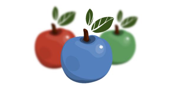 blurred apples