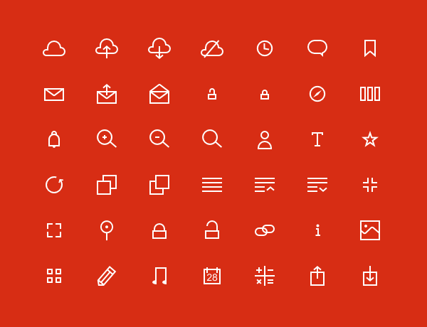 I havent finished this set of SVG icons yet but youre welcome to download and use them