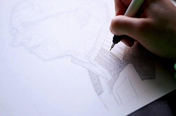 pointillism-dotting