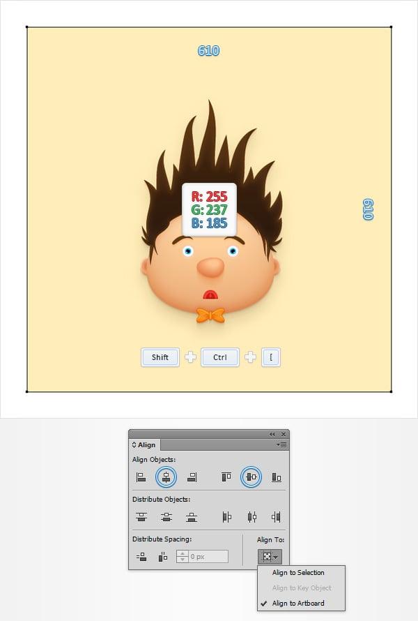 Cartoon Character Face