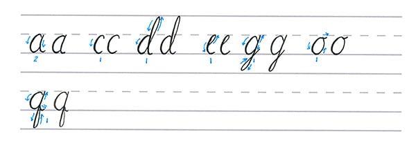 cursive calligraphy - curve stroke letters