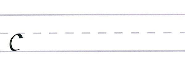 roundhand script - letter c