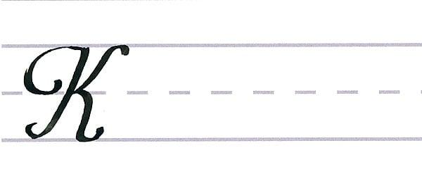 roundhand script - uppercase k