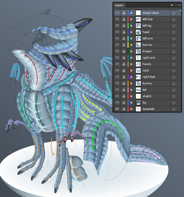 snowglobedragon-4-21-scales-organize