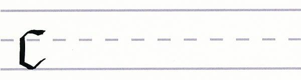 gothic script - letter c