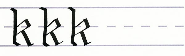 gothic script - letter k multiples