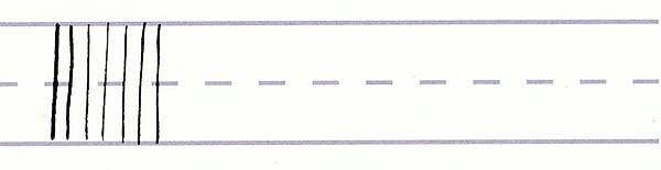 gothic script - thin downward strokes