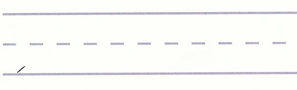 gothic script - upward serif stroke