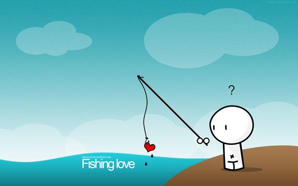 wallpaper art 21 fishing love
