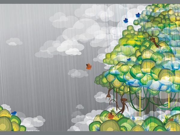 wallpaper art 23 jungle
