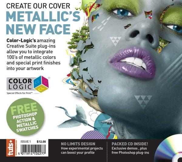 Create a Metallic Magazine Cover