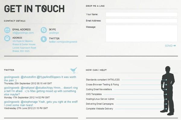 Goslingo contact page