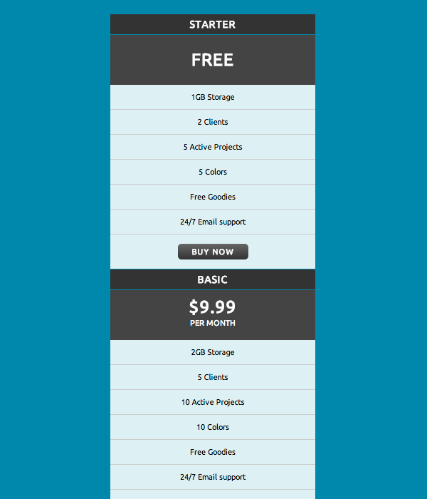 css3-pricing-table-1x4