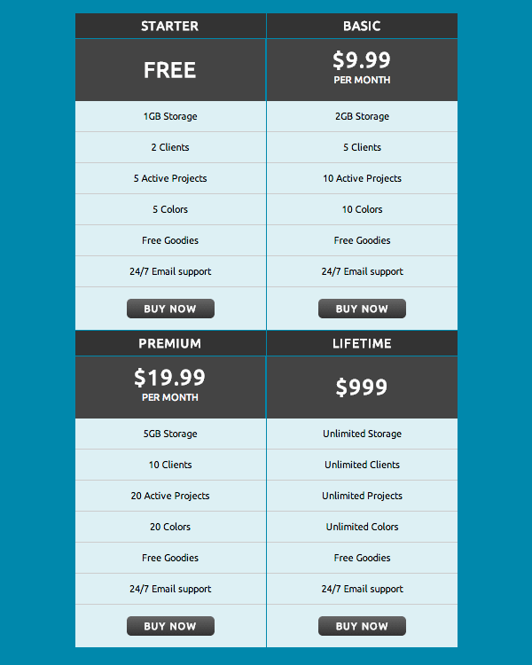 css3-pricing-table-2x2