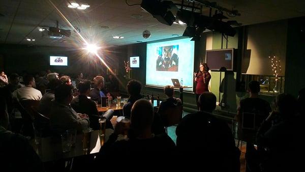 Rachel Shillcock entertaining the crowd