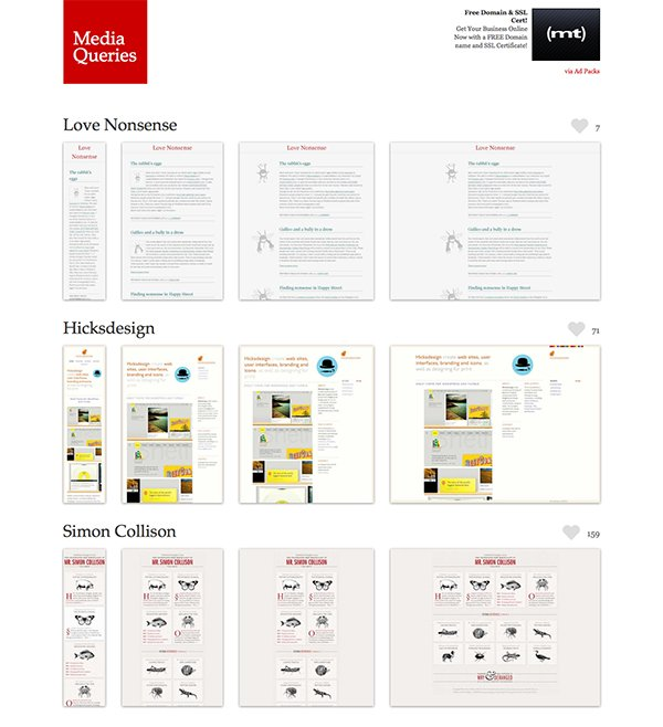The mediaqueri.es website offers lots of inspiration for some top-notch responsive web designs.