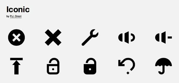 Screenshot of The Noun Project