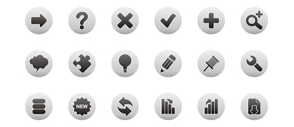 Free Web Icons Roundup Black and White