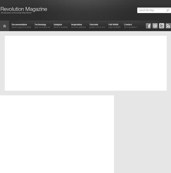 Revolution Magazine WordPress Theme Design