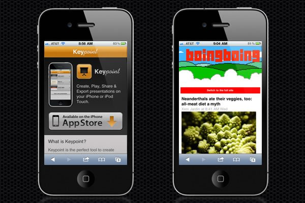 Web Design Trends : Mobile Web Design 1