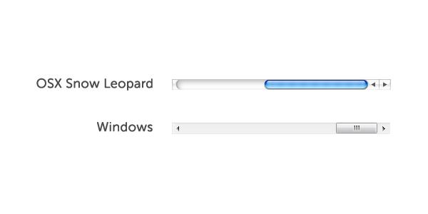 osx vs windows scrollbars
