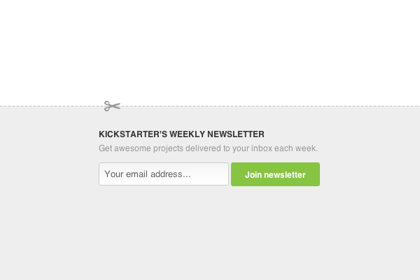 Kickstarter Team Page