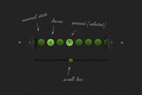 jPaginator psd layout