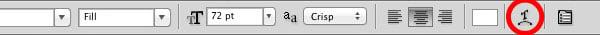 Arc text button
