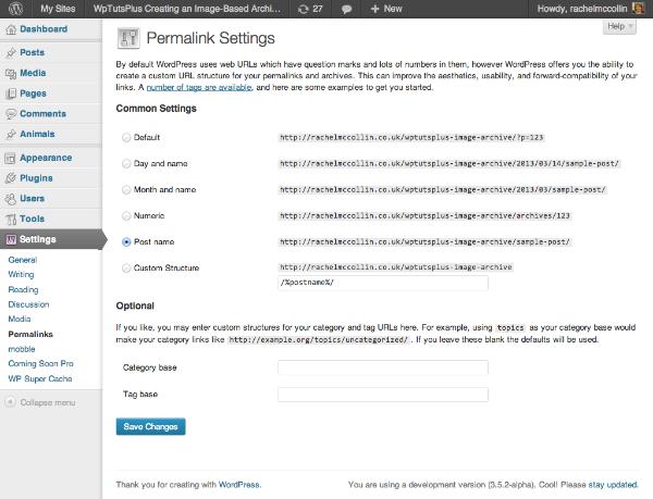 Change permlainks settings to enable pretty permalinks