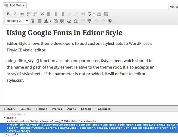 Custom classes in WordPress TinyMCE editor