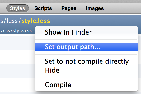 set-output-path