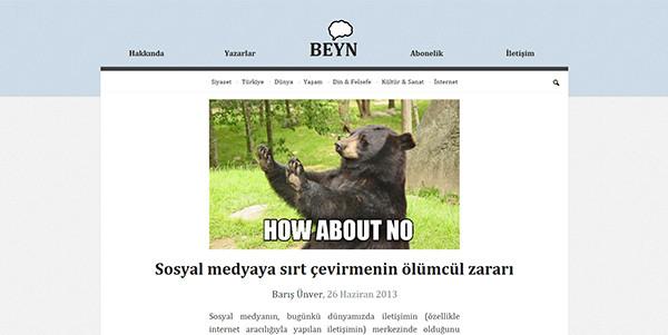 Sidebarless design example: Beyn.org