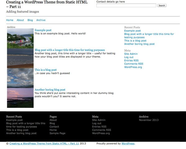 creating-wordpress-theme-from-static-html-archive-template-with-featured-images-unstyled