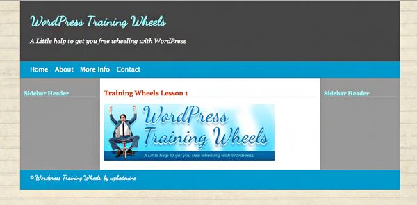 Training Wheels Screenshot