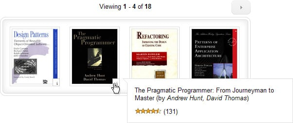 jQuery Amazon Book List