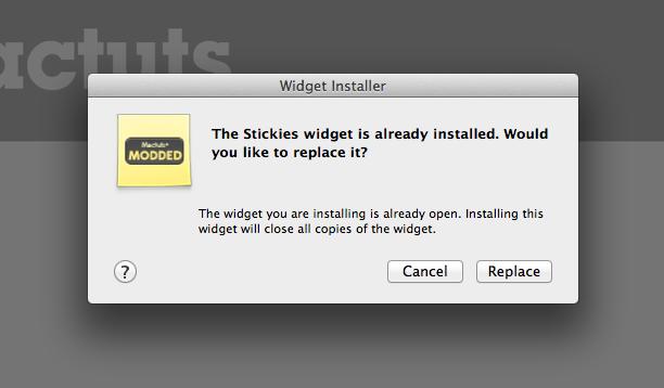 Installing Widget Prompt