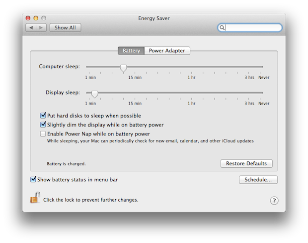 And then, if you want to use up some battery power, check another box in this tab.